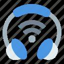 communication, headphone, iot, wifi signal, wireless