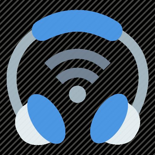 communication, headphone, iot, wifi signal, wireless icon