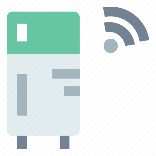 home automation, internet of things, iot, refrigerator, wireless connectivity icon
