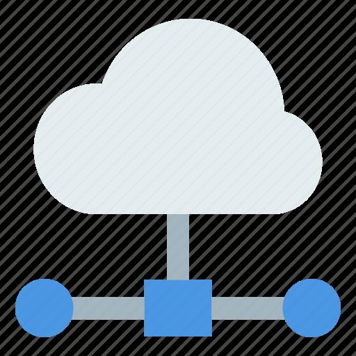 cloud network, cloud server, cloud storage, communication, global connectivity icon