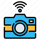 camera, digital camera, internet of things, photo, photograph, wireless icon