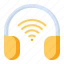 earphone, headphone, headset, wifi icon