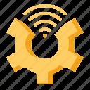 configuration, settings, smart, wifi icon