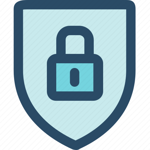 padlock, privacy, protect, safe, security, shield icon
