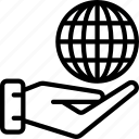 give, internet, tech, iot, globe, grid icon