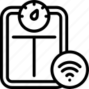 smart, scales, tech, iot, appliance, wireless icon