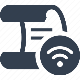 bill, connection, document, internet, paper, web, wifi icon