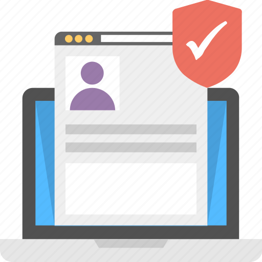 online document protection, online privacy concept, privacy policy, user account protection, user interface protection icon