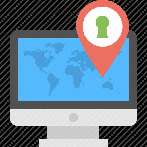 Address Finder Map Address tracker, location pin, online map, online system, secure