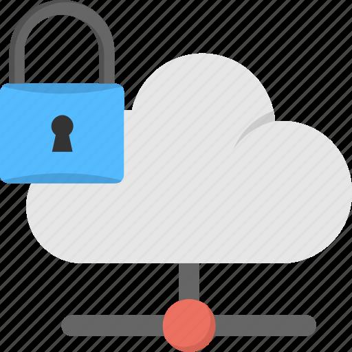 cloud data, data lock, data security, online safety, storage platform icon
