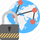 global connections, global network, internet security, network protection, online system icon