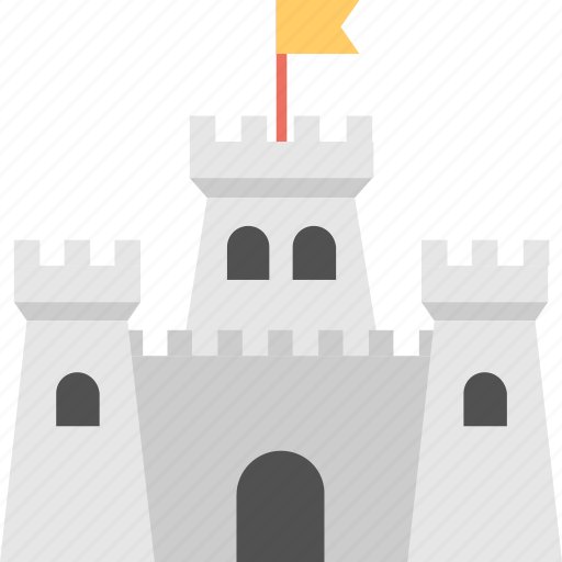 data castle, data management concept, data storage concept, digital fortress, secured data house icon