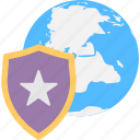 favourite protection, global guard, global security, internet connections, shield star icon