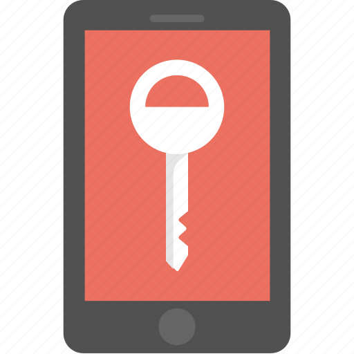 mobile key, mobile password, security lock, smartphone passcode, smartphone protection icon