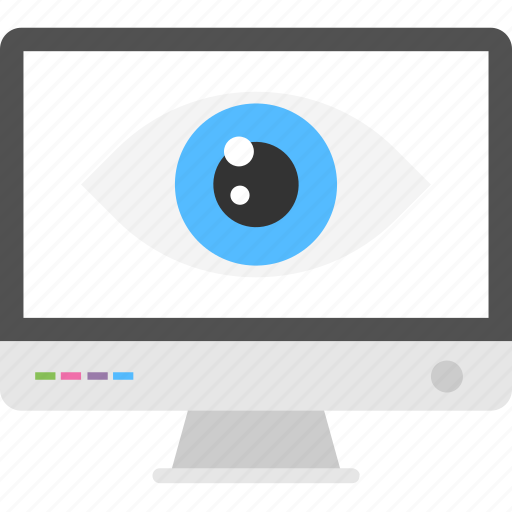 computer monitor, digital scan, online protection, online system protection, security scanner icon