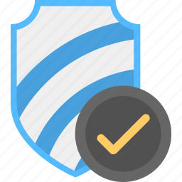antivirus protected, certified security, protection technology, security approved, shield protection icon