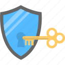 antivirus shield, passcode, protection unlock, safety lock, security key icon