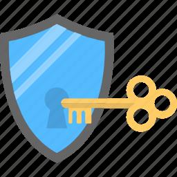 antivirus shield, passcode, protection unlock, safety lock, security key icon