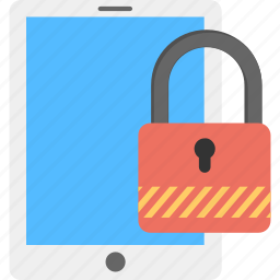 data access safety, locked padlock, mobile lock, secured mobile phone, security lock icon