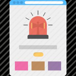 buzzfeed, document crash, virus alert, web threat, webpage alert icon