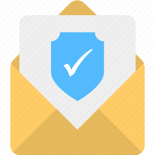 confidential correspondence, email confidentiality, email security, inbox privacy, secure information icon