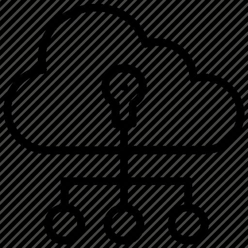 cloud computing, cloud hosting, cloud network, cloud server, cloud services icon