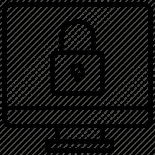 computer password, computer security, locked computer, private computer, secured computer icon