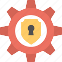 protection system, security lock, security management, settings security lock, shield lock adjustment icon