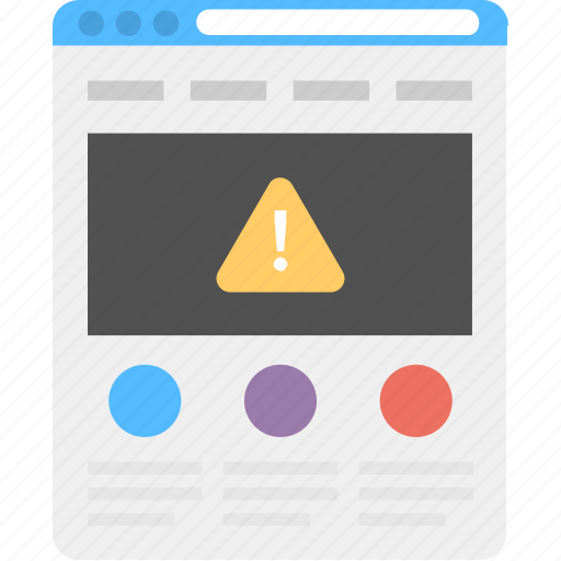 Internet security, online security, system error, web alert, web page icon - Download on Iconfinder