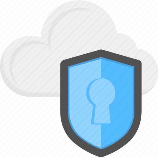 cloud data, data security, internet security, online protection, shield protection concept icon