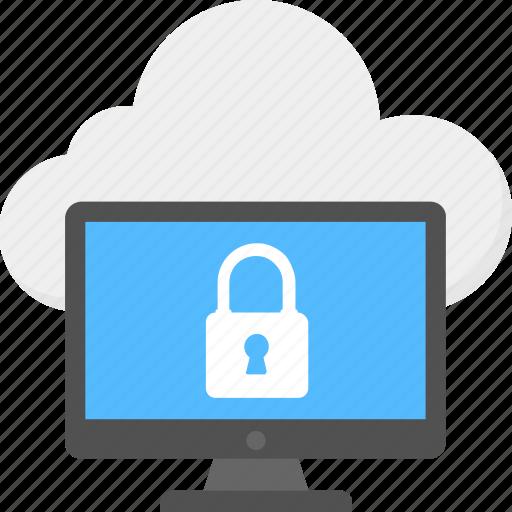 backup data protection, cloud computing lock, cloud data security, icloud security, secured data icon