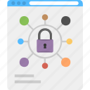 internet connections lock, internet security, online system management, web connection protection, web protection icon