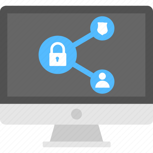 internet security, online privacy, secure connection, secured information, secured user interface icon