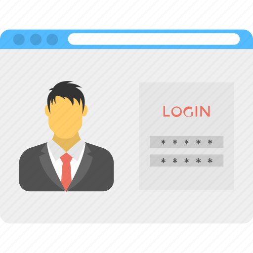 administrator account, login screen, password protected account, profile privacy, web account icon
