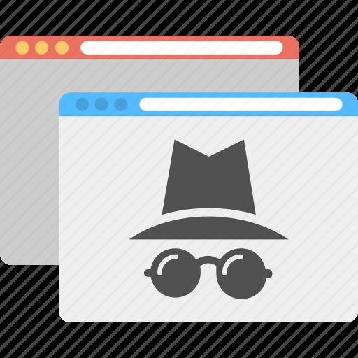 cybercrime, internet hacker, online threat, web data hacker, website protection icon