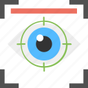 eye scan, eye security lock, information protection, internet security, privacy policy icon