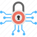 cyber linked data, cyber protection, internet connections, online protection, protected connections icon