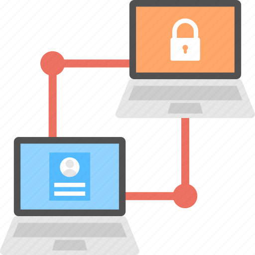 data sharing, linked system protection, linked systems, online system security, secure data transfer icon