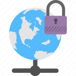 cyber security, database, network security, online protection, server connection icon