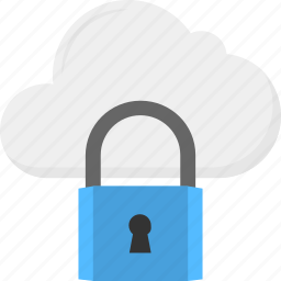 cloud backup, cloud data, cloud network, data protection, padlock security icon