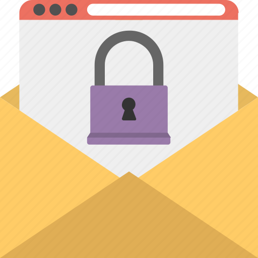 data security, locked file, privacy lock, secured email, secured webpage icon