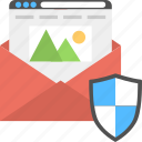 confidential letter, document security, mail envelope, message document symbol, shield lock icon
