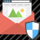 confidential letter, mail envelope, message document symbol, document security, shield lock