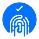 confirm, fingerprint, security icon