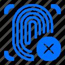 cancel, focus, fingerprint
