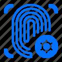 fingerprint, focus, target icon