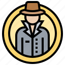 anonymous, cybercrime, hacker, spyware, stalker icon