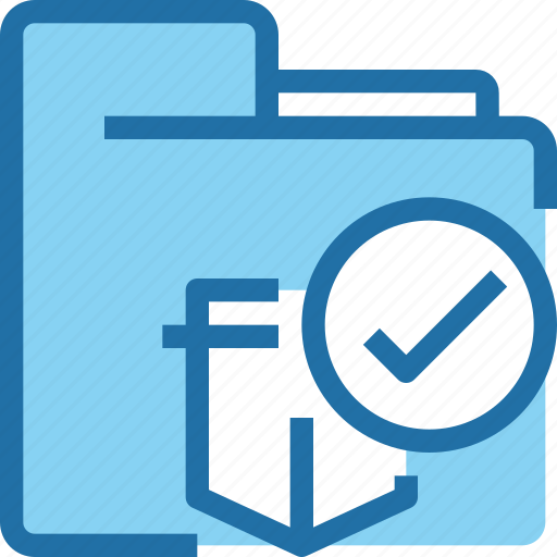 Check, document, file, folder, protection, secure icon - Download on Iconfinder