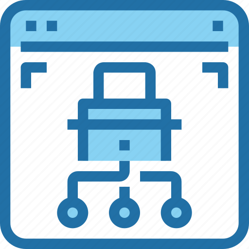 network, padlock, secure, security icon