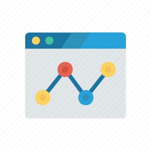 analytic, chart, graph, online, report icon
